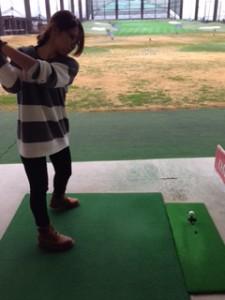 ゴルフ構え